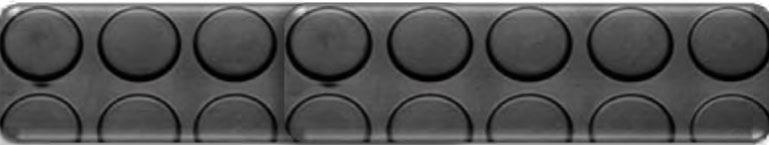 Průmyslová rohož - penízková PVC